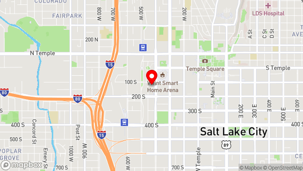 Google Map of 110 South 400 West, Salt Lake City, UT 84101