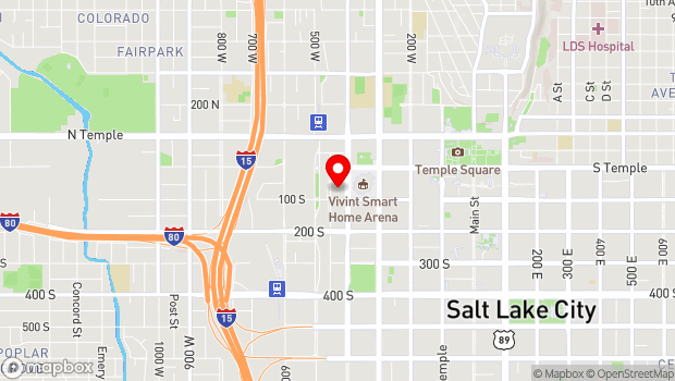 Google Map of 18 North Rio Grande Street, Salt Lake City, UT 84101