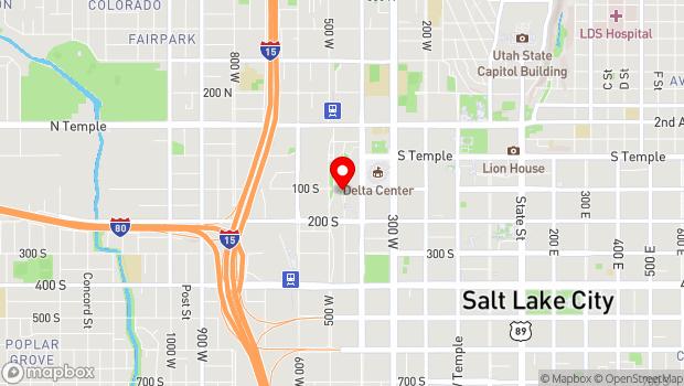 Google Map of 110 S. Rio Grande Street, Salt Lake City, UT 84101