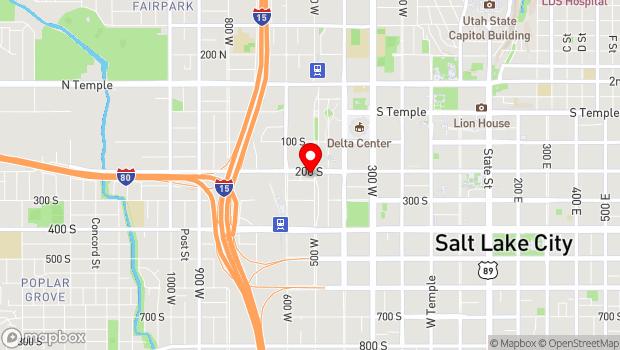 Google Map of 511 West 200 South , Salt Lake City, UT 84101
