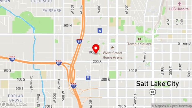 Google Map of 537 West 100 South, Salt Lake City, UT 84101