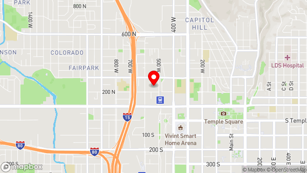 Google Map of 235 N 500 W, Salt Lake City, UT 84116