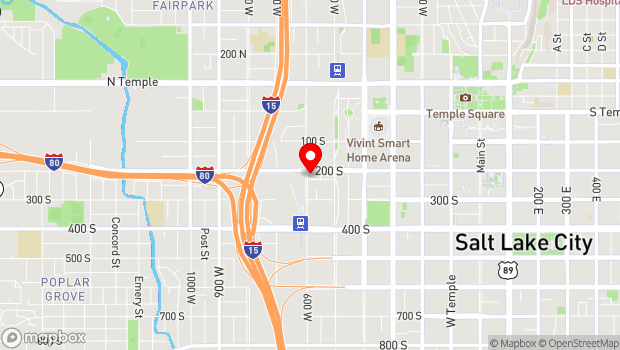 Google Map of 577 West 200 South, Salt Lake City, UT 84101