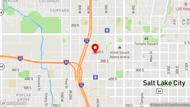 Google Map of 615 W. 100 S., Salt Lake City, UT 84101