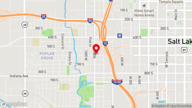 Google Map of 577 South 900 West, Salt Lake City, UT 84104