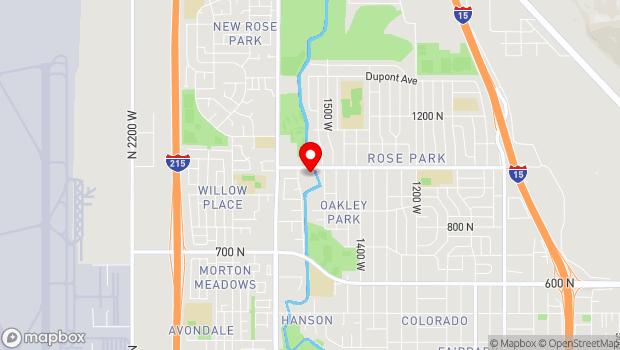 Google Map of 1575 West 1000 North, Salt Lake City, UT 84116