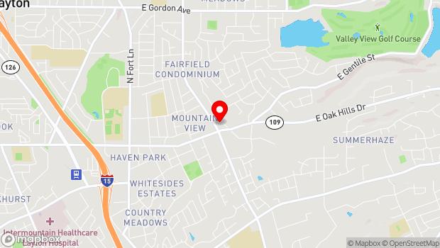 Google Map of 150 North Fairfield Road, Kaysville, UT 84037