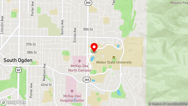 Google Map of 3850 University Circle, Ogden, UT 84408