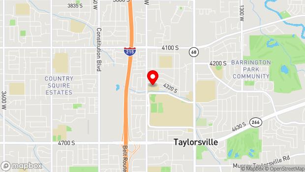 Google Map of 4600 South Redwood Road, Salt Lake City, UT 84123