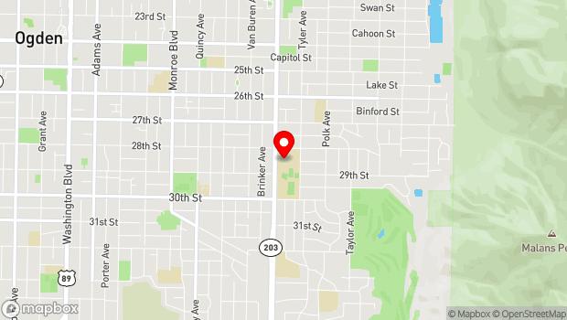 Google Map of 2828 Harrison Boulevard, Ogden, UT 84403