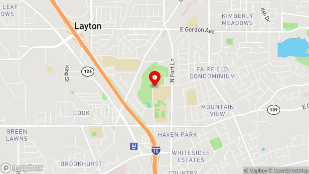 Google Map of 437 N Wasatch Dr, Layton, UT 84041