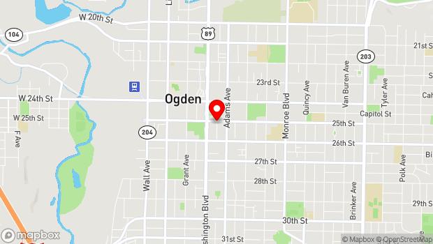Google Map of 455 25th Street, Ogden, UT 84401