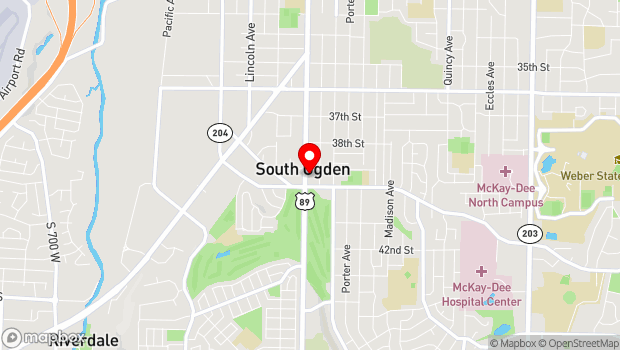 Google Map of 3934 South Washington Boulevard, Ogden, UT 84403