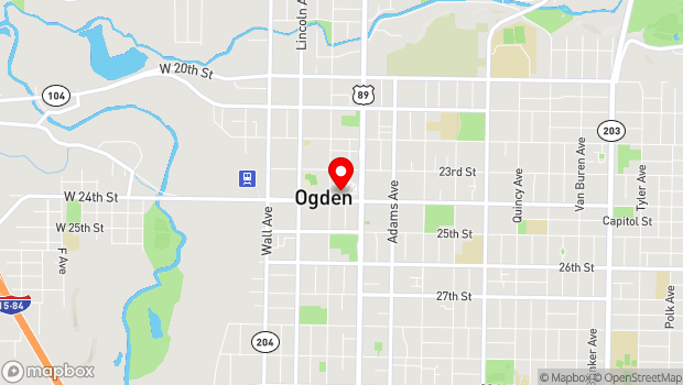 Google Map of 2371 Kiesel Ave, Ogden, UT 84401