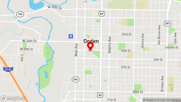 Google Map of 269 Historic 25th Street, Ogden, UT 84401
