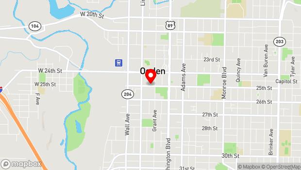 Google Map of 2404 Wall Ave. , Ogden, UT 84401