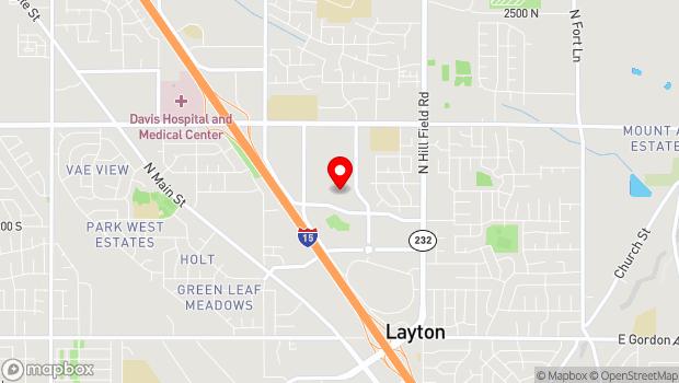 Google Map of 1651 North 700 West, Layton, UT 84041