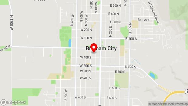 Google Map of 58 South 100 West, Brigham City, UT 84302