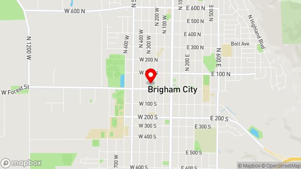 Google Map of 24 North 300 West, Brigham City, UT 84302