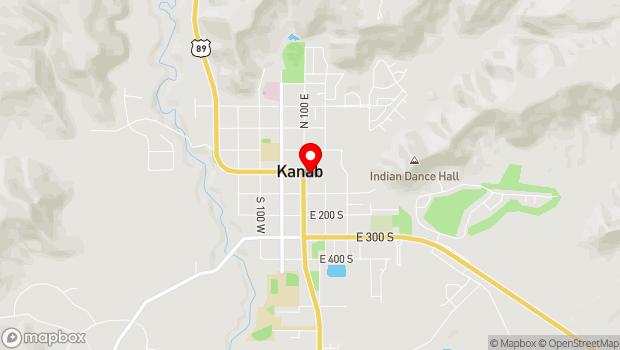 Google Map of 20 N 100 E, Kanab, UT 84741
