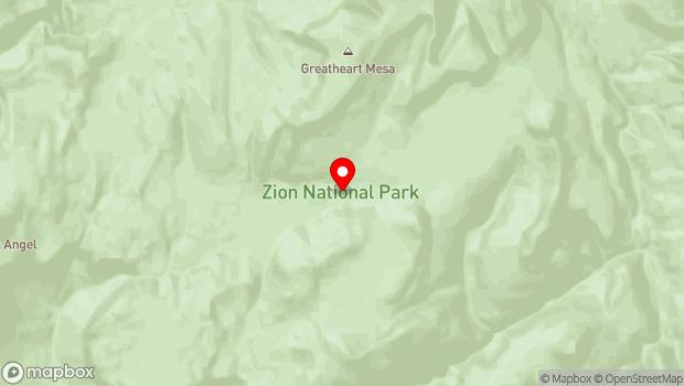 Google Map of Zion National Park, Springdale, UT 84767