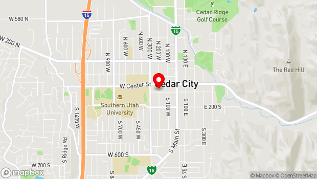 Google Map of 200 W College Ave, Cedar City, UT 84720