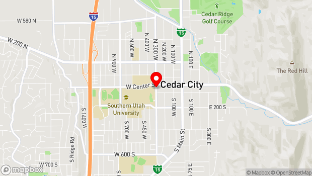 Google Map of 13 S 300 W, Cedar City, UT 84720