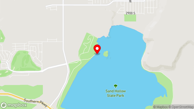 Google Map of Sand Hollow State Park, Hurricane, UT 84737