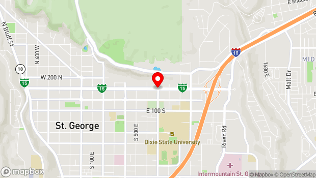 Google Map of 155 S. University Ave., Saint George, UT 84770