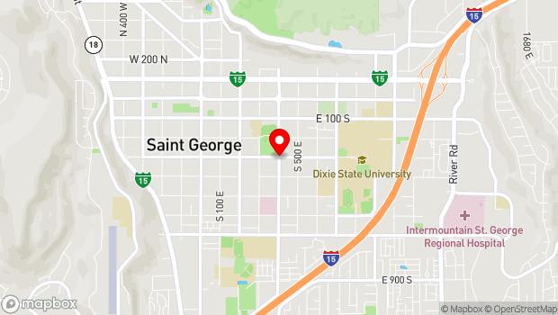 Google Map of 300 South 400 East, Saint George, UT 84770