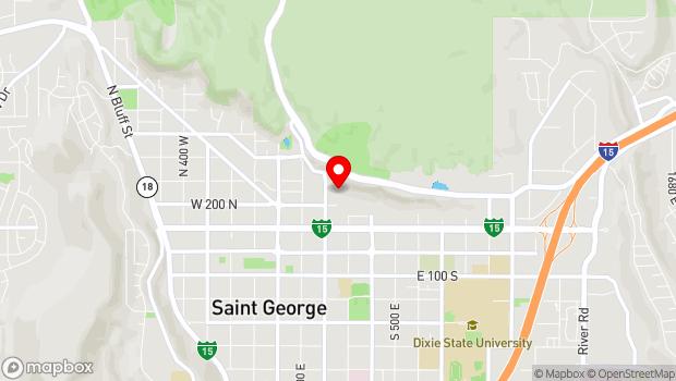 Google Map of 220 N 200 E, Saint George, UT 84770