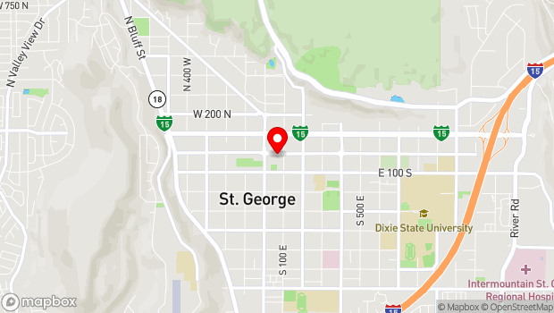 Google Map of 68 East Tabernacle, Saint George, UT 84770