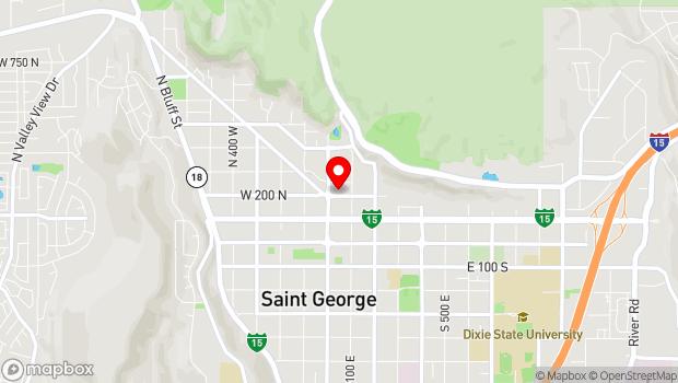 Google Map of 47 East 200 North, Saint George, UT 84770