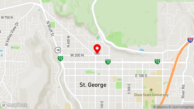 Google Map of 212 N Main St., Saint George, UT 84770