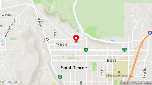 Google Map of Main Street, Saint George, UT 84770