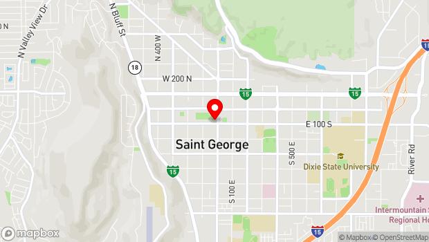 Google Map of 86 South Main Street, Saint George, UT 84770