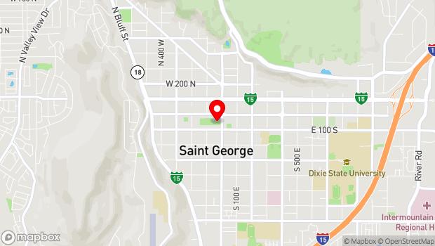 Google Map of 50 South Main Street, Saint George, UT 84770