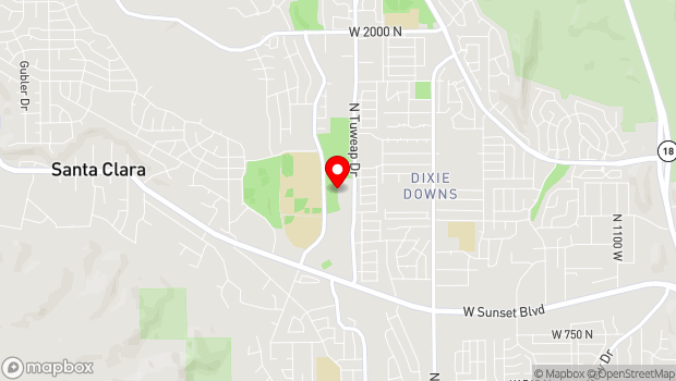 Google Map of 1144 N 2400 W, Saint George, UT 84770