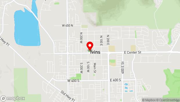 Google Map of 100 N Main Street, Ivins, UT 84738