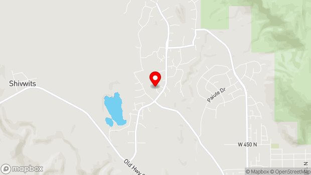 Google Map of 881 Coyote Gulch Ct, Ivins, UT 84738
