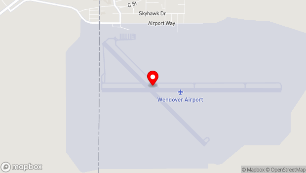 Google Map of 345 Airport Apron, Wendover, UT 84083