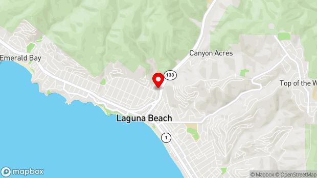 Google Map of 606 Laguna Canyon Road, Laguna Beach, CA 92651