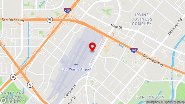 Google Map of 18601 Airport Way, Santa Ana, CA 92707