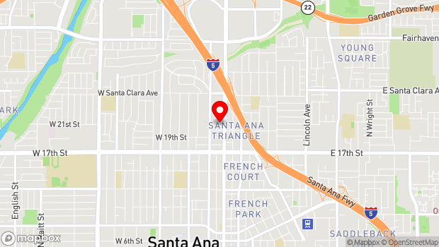 Google Map of 2002 North Main Street, Santa Ana, CA 92706