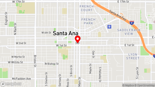 Google Map of 117 North Sycamore Street, Santa Ana, CA 92701