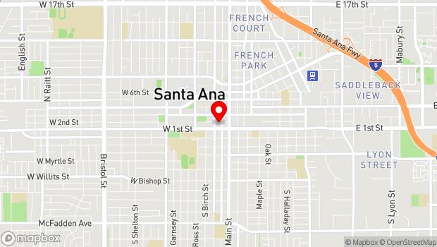 Google Map of 125 North Broadway, Santa Ana, CA 92701