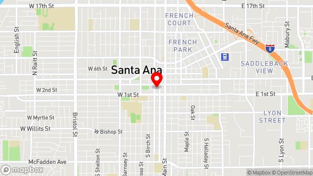Google Map of 207 N. Broadway Ave., Santa Ana, CA 92701