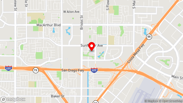 Google Map of 600 Town Center Drive, Costa Mesa, CA 92626