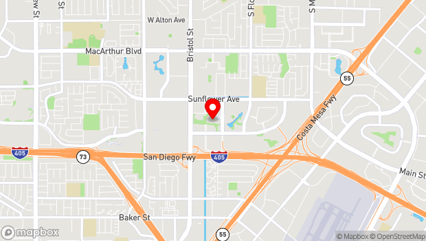 Google Map of 615 Town Center Drive, Costa Mesa, CA 92626