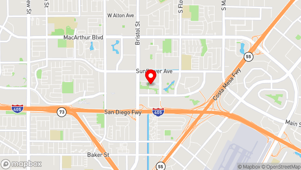 Google Map of 655 Town Center Drive, Costa Mesa, CA 92626